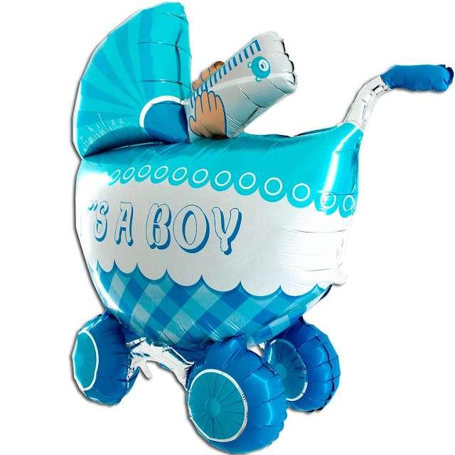 "Balon foliowy ""Baby Shower Boy- Wózek"", Grabo, 42"""