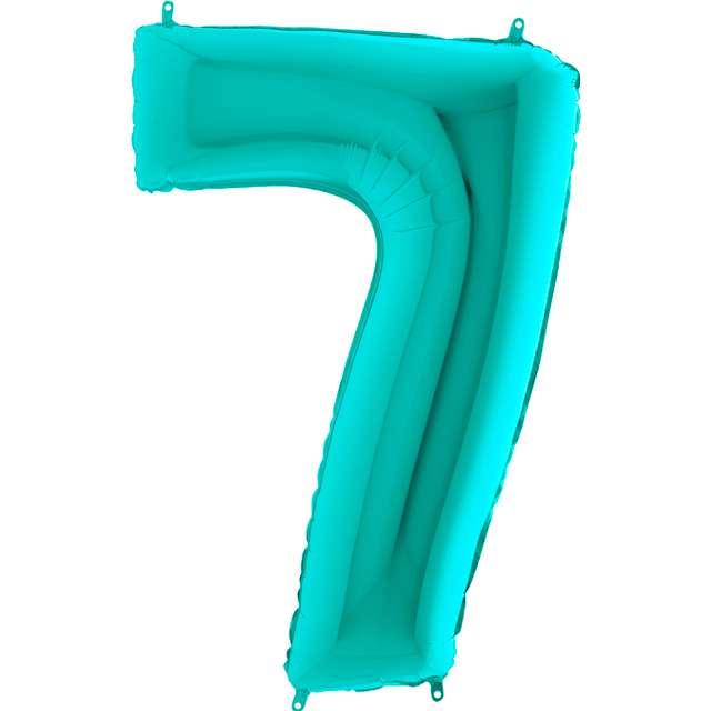 """Balon foliowy """"Cyfra 7"""", turkusowy, Grabo, 40"""""""