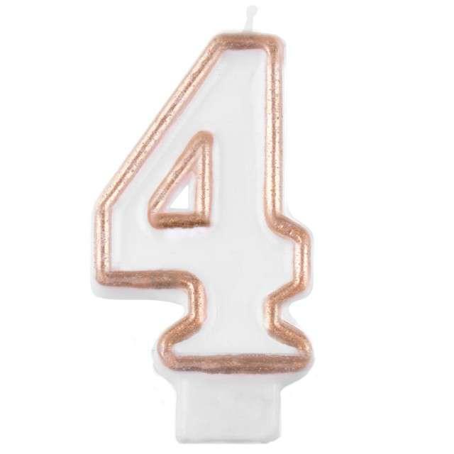 """Świeczka na tort """"4 złoty kontur"""", Arpex"""