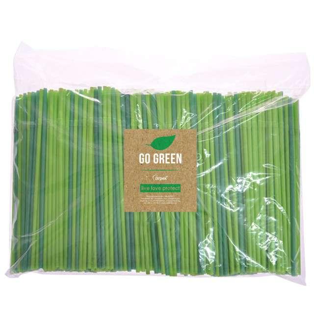"""Słomki łamane """"Go Green"""", zielone, Arpex, 24 cm, 500 szt."""