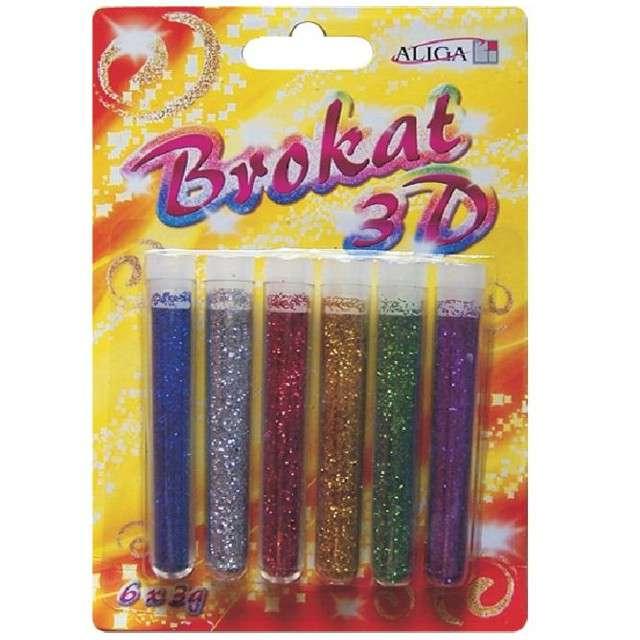 """Brokat sypki """"Classic"""" 3D, mix, Aliga, 6 szt"""