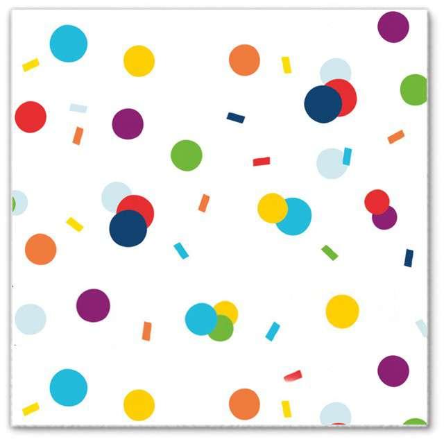 """Serwetki """"Kolorowe Konfetti"""", Amscan, 33 cm, 20 szt"""