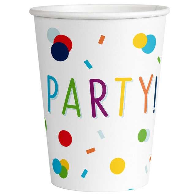 "Kubeczki papierowe ""Party - Konfetti"", Amscan, 250 ml, 8 szt"