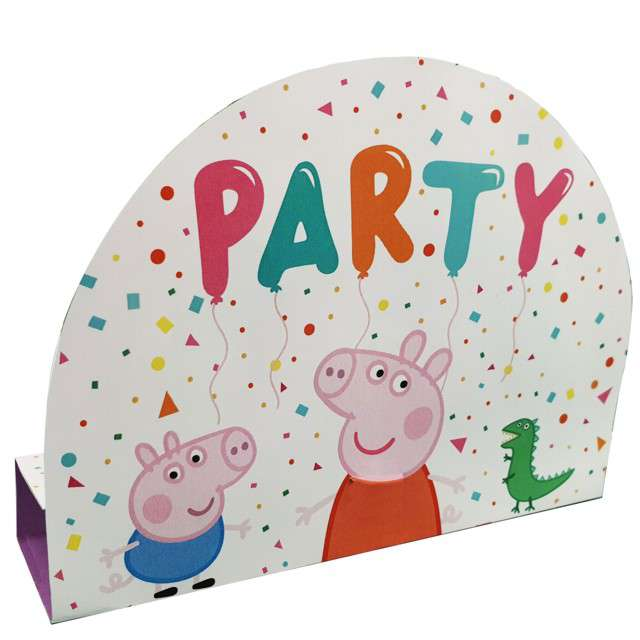 """Zaproszenia urodzinowe """"Świnka Peppa Party"""", Amscan, 8 szt"""