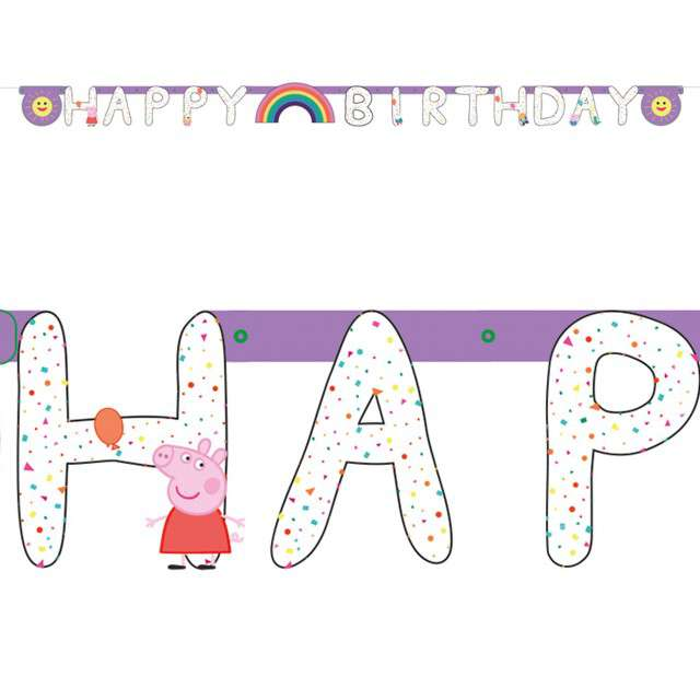 "Banner ""Świnka Peppa - Happy Birthday"", Amscan"