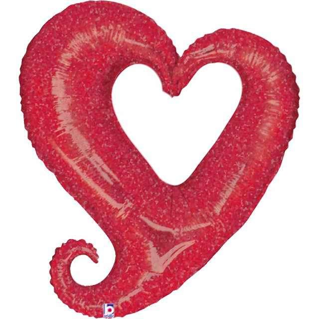 """Balon foliowy """"Serce splątane"""", czerwony, Grabo, 37"""", SHP"""