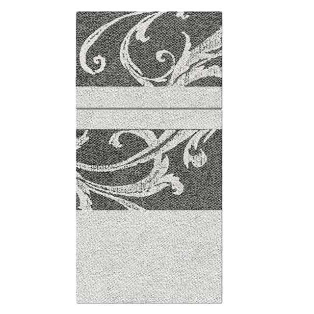 """Kieszonka na sztućce """"Airlaid ornament"""", brązowe, PAW, 40 cm, 25 szt."""