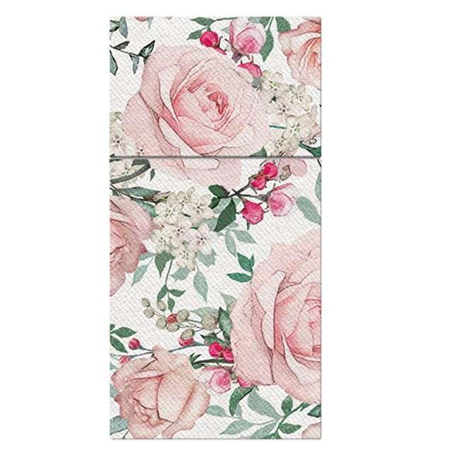 "Kieszonka na sztućce ""Airlaid róże"", PAW, 40 cm, 25 szt."