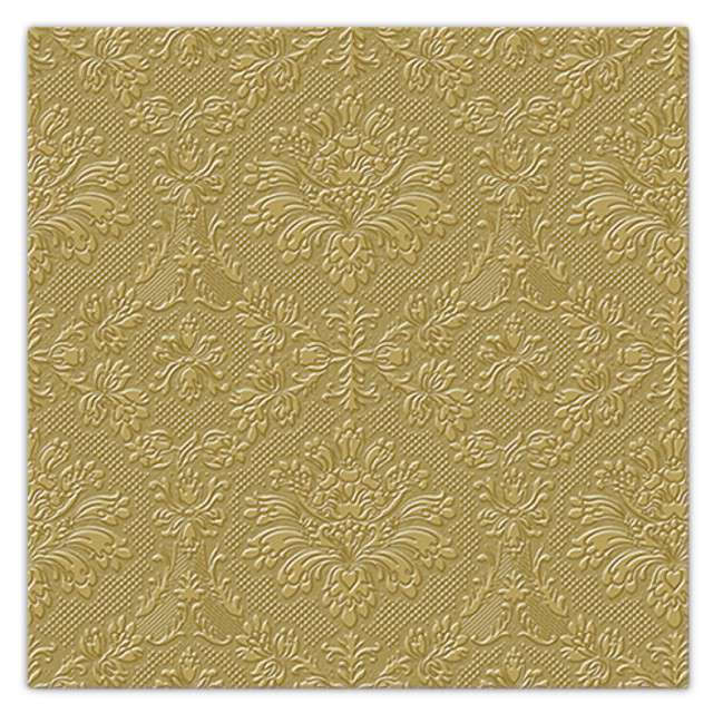 """Serwetki tłoczone """"Meandry"""", złote, PAW, 33 cm, 20 szt"""