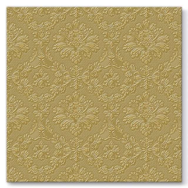 """Serwetki tłoczone """"Meandry"""", złote, PAW, 40 cm, 20 szt"""