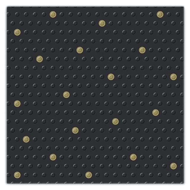 """Serwetki tłoczone """"Kropki"""", czarne, PAW, 33 cm, 20 szt"""