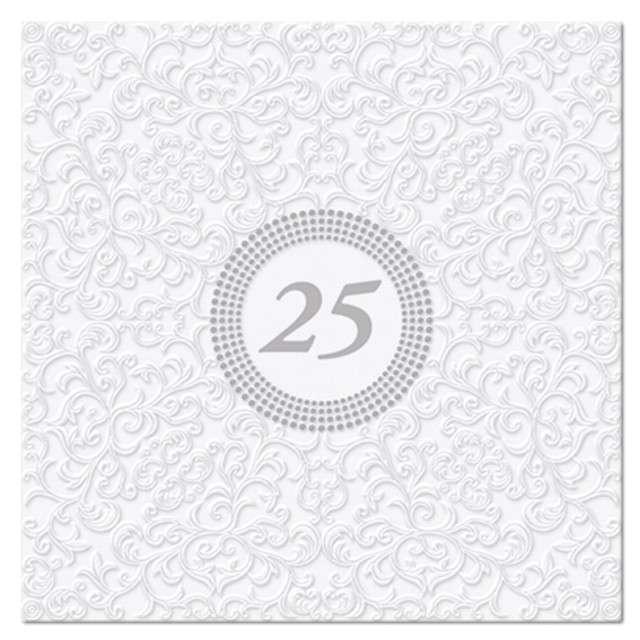 """Serwetki tłoczone """"25"""", PAW, 33 cm, 20 szt"""