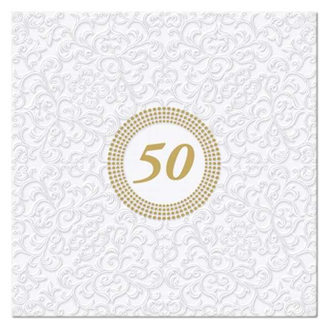 """Serwetki tłoczone """"50"""", PAW, 33 cm, 20 szt"""