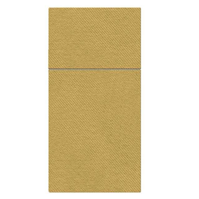 """Kieszonka na sztućce """"Airlaid monokolor"""", złote, PAW, 40 cm, 25 szt."""