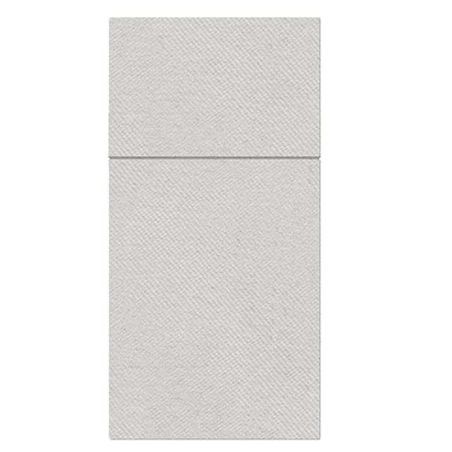 """Kieszonka na sztućce """"Airlaid monokolor"""", srebrne, PAW, 40 cm, 25 szt."""