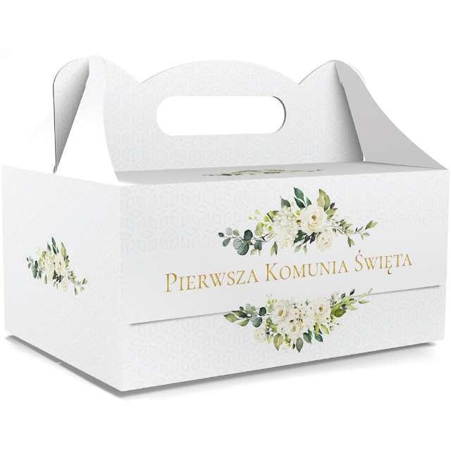 """Pudełko na ciasto """"Pierwsza Komunia Święta Classic"""", białe, TOLEDO, 5 szt"""