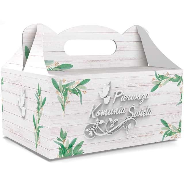 """Pudełko na ciasto """"Pierwsza Komunia Święta Classic"""", białe, Toledo"""