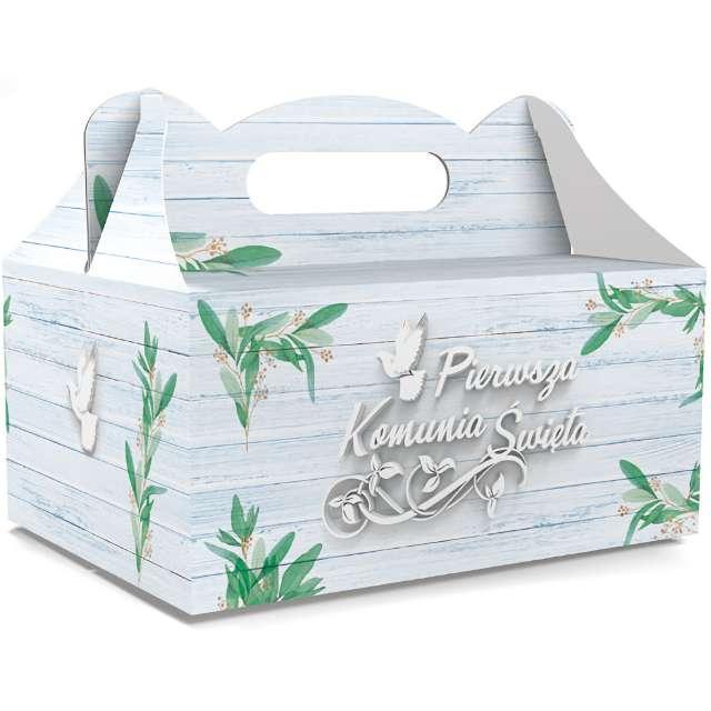 Pudełko na ciasto Pierwsza Komunia Święta Classic niebieskie TOLEDO 5 szt