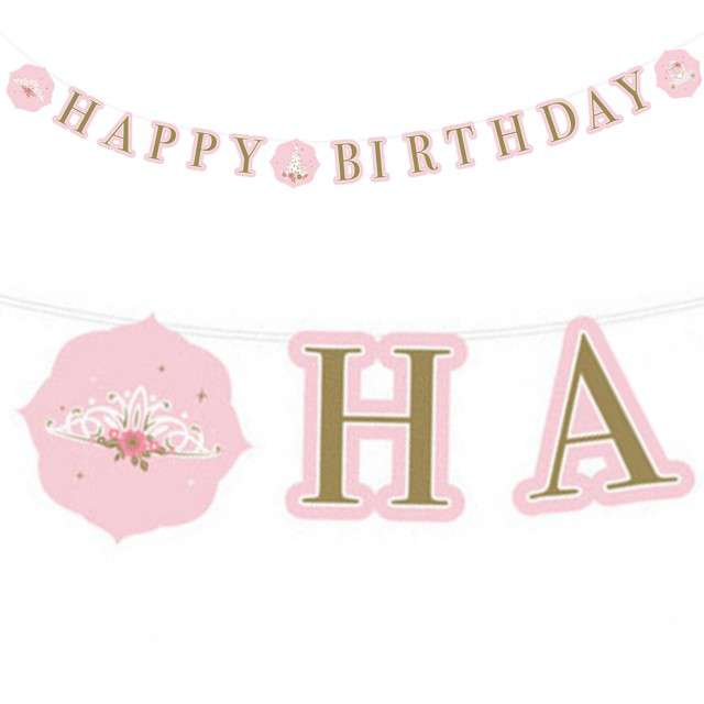 "Baner ""Happy Birthday - Princess"", Amscan, 170 cm"