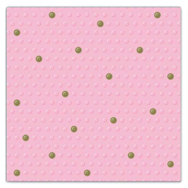 """Serwetki tłoczone """"Kropki"""", różowe, PAW, 33 cm, 20 szt"""