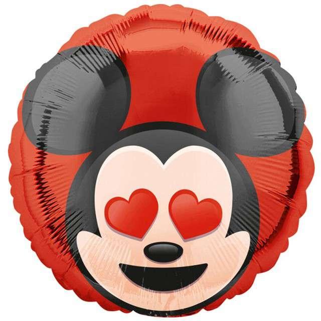 """Balon foliowy """"Mickey Mouse z serduszkami"""", Amscan, 18"""", CIR"""
