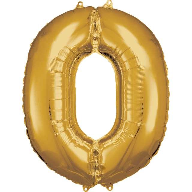 Balon foliowy Cyfra 0 złoty Amscan 34