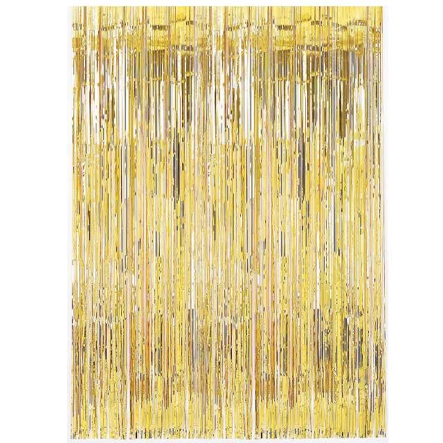 """Kurtyna na drzwi """"Classic"""", złota, Amscan, 240 x 91 cm"""