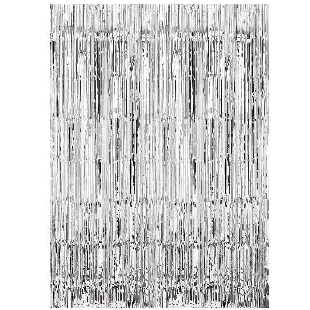 Kurtyna na drzwi Classic srebrna Amscan 243 x 91 cm