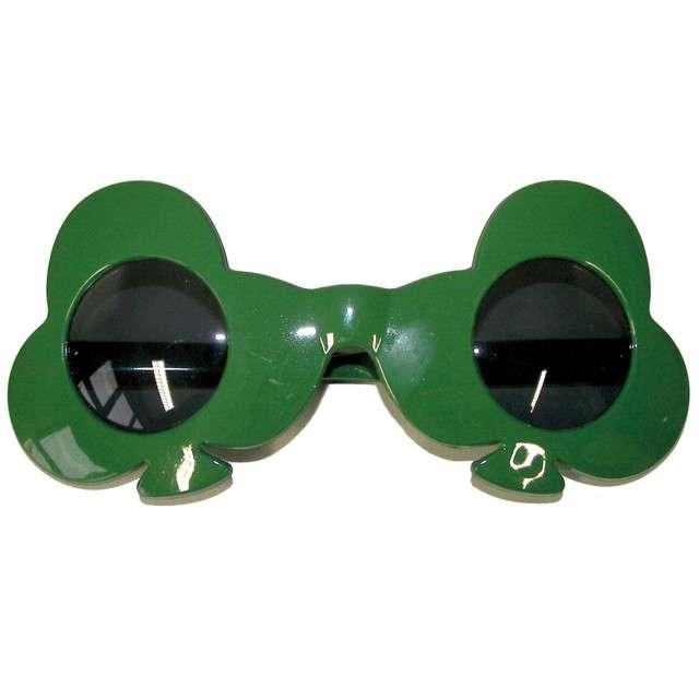 """Okulary party """"Koniczyny"""", zielone, FunnyFashion"""