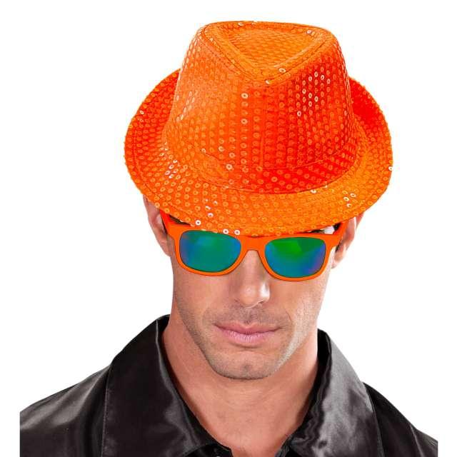 Kapelusz Neon Fedora pomarańczowy Widmann