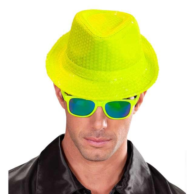 Kapelusz Neon Fedora żółty Widmann