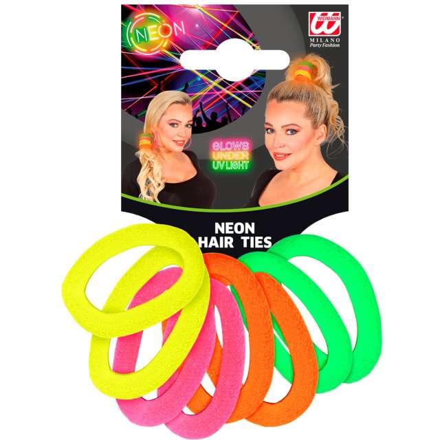 """Gumki do włosów """"Neon"""", Widmann, 8 szt"""