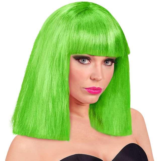 Peruka party Neon zielona Widmann