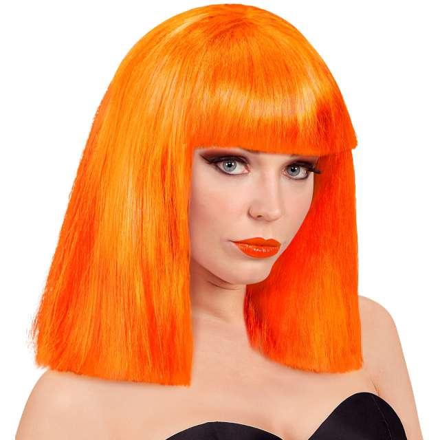 """Peruka party """"Neon"""", pomarańczowa, Widmann"""