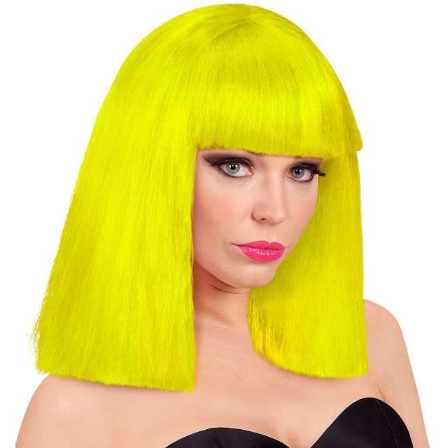 """Peruka party """"Neon"""", żółta, Widmann"""