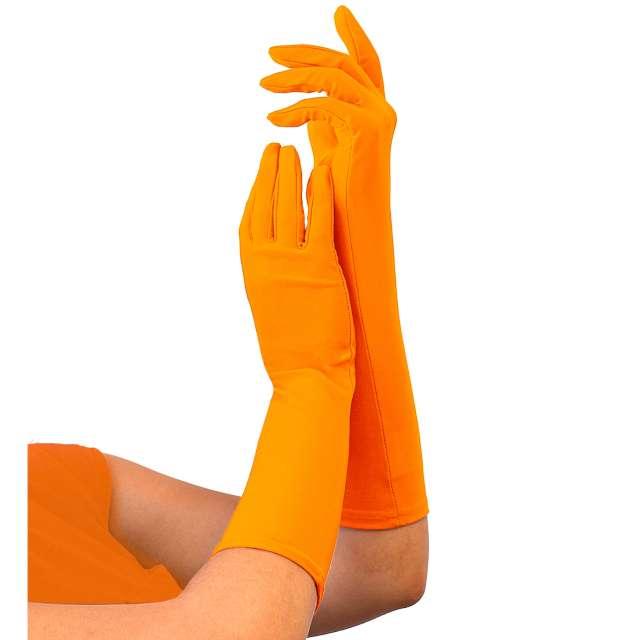 """Rękawiczki """"Classic Neon"""", pomarańczowe, Widmann"""