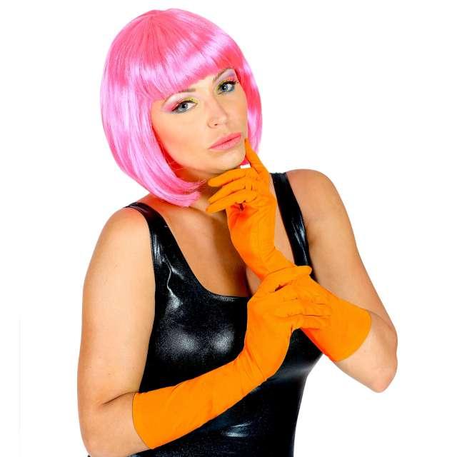Rękawiczki Classic Neon pomarańczowe Widmann