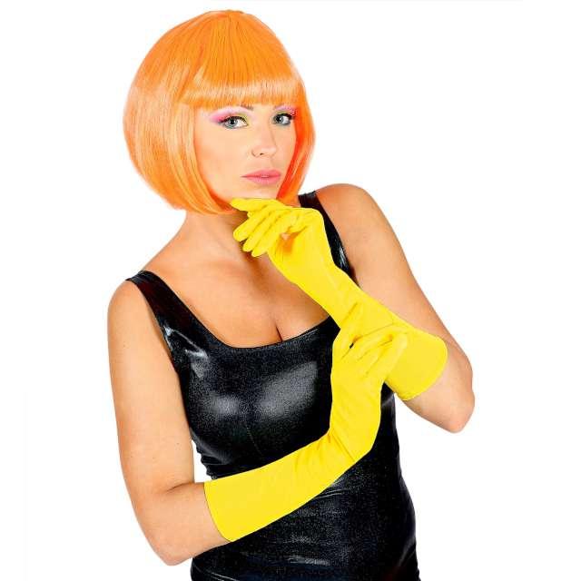 Rękawiczki Classic Neon żółte Widmann