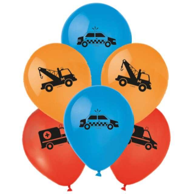 Balony Pojazdy na sygnale mix Amscan 6 szt