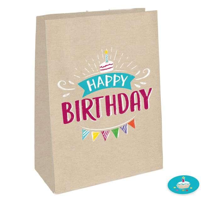 """Torebka prezentowa """"Happy Birthday"""", Amscan, 15 x 21 cm"""