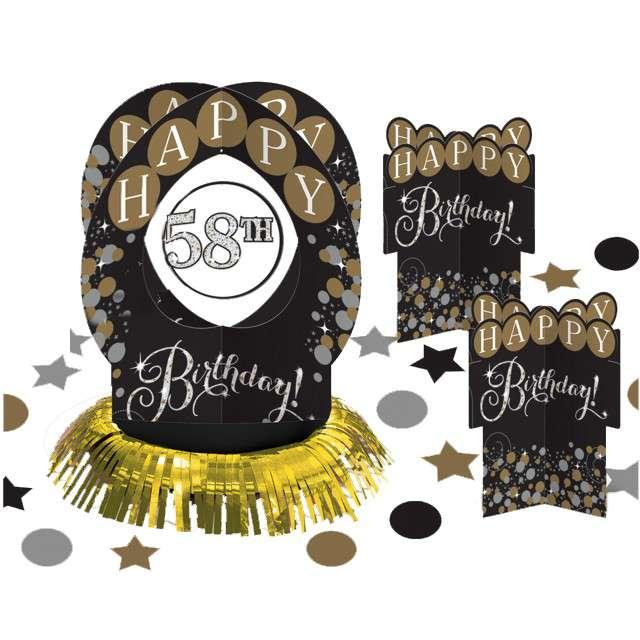 """Dekoracja stołu """"Happy Birthday - personalizowana"""", Amscan, zestaw"""