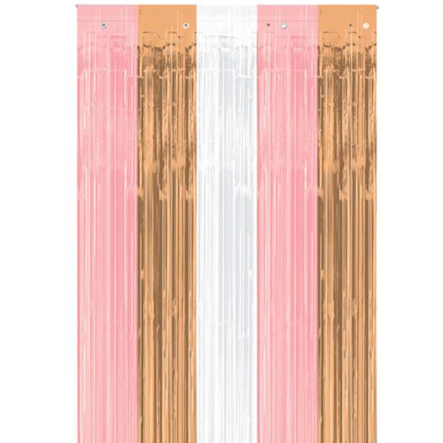 """Kurtyna na drzwi """"Rose Gold Deluxe"""", Amscan, 243 x 91 cm"""