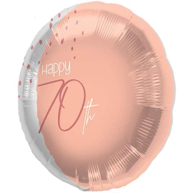 """Balon foliowy """"Happy 70th"""", różowe złoto, Folat, 18"""", RND"""