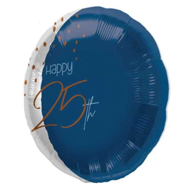 Balon Happy 25th niebieski Folat 18 RND