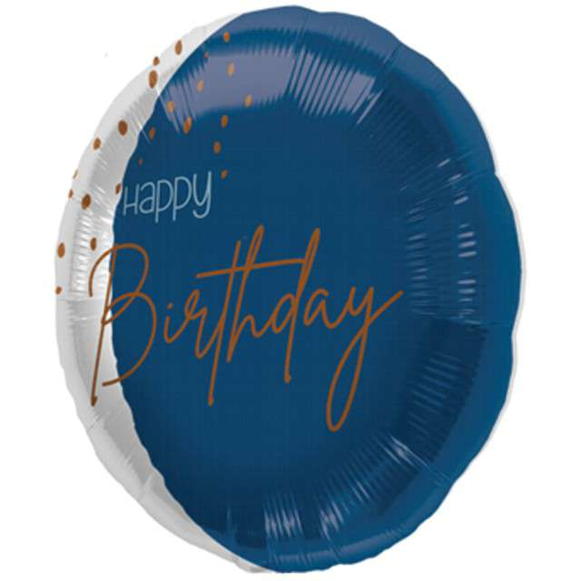 _xx_18in/45cm transparent/elegant true blue Happy Birthday
