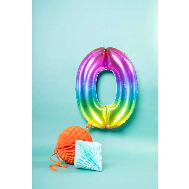 Balon foliowy Yummy Gummy Rainbow Numer 0 Folat 34