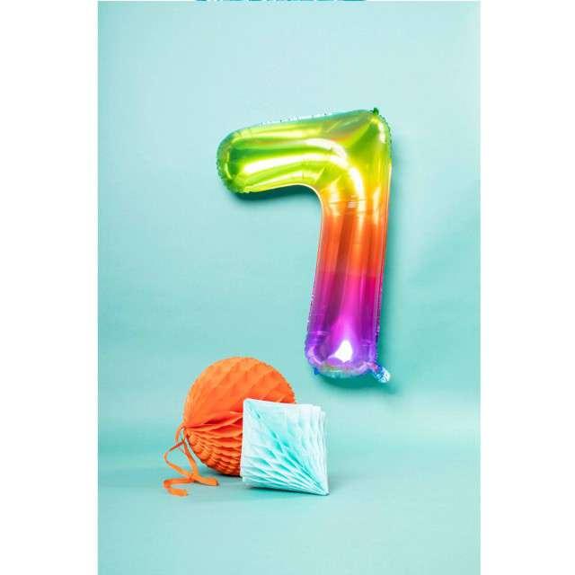 Balon foliowy Yummy Gummy Rainbow Numer 7 tęczowy Folat 34