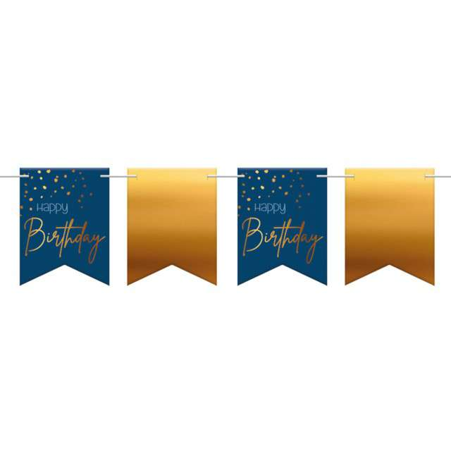 _xx_Flagbanner Elegant True Blue Happy Birthday 6m
