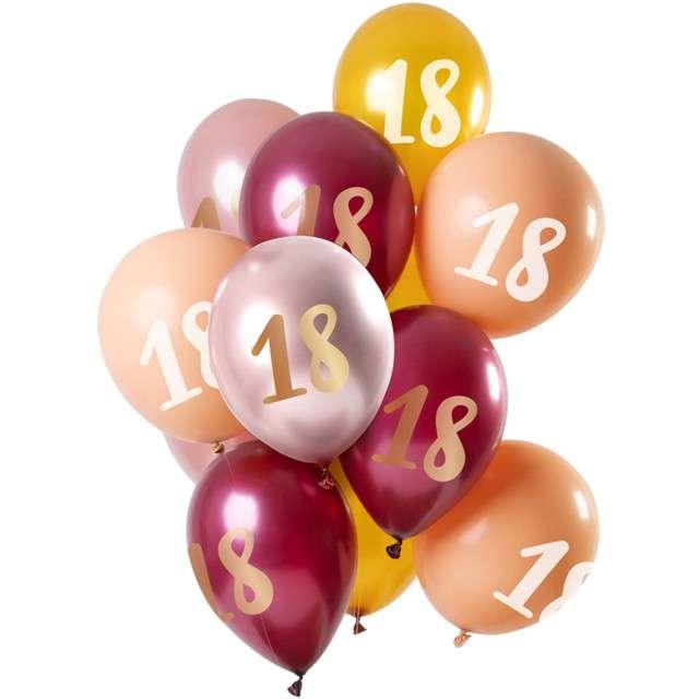 """Balony """"18 Urodziny"""", mix, Folat, 12"""", 12 szt"""