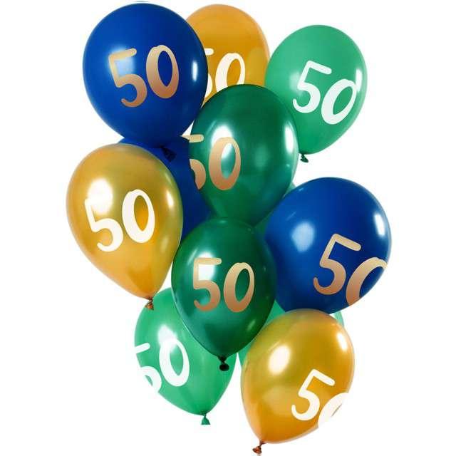 """Balony """"50 Urodziny"""", mix, Folat, 12"""", 12 szt"""